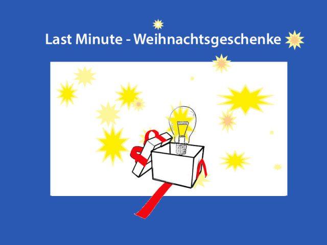 Mittwoch 21.Dezember, Last Minute – Weihnachtsgeschenke, bitte anmelden !