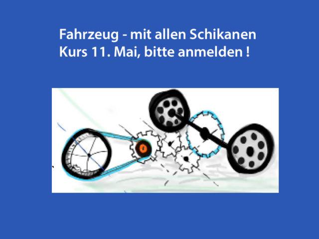 Fahrzeug – mit allen Schikanen